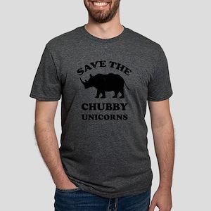 Save the chubby unicorns t-shirt Mens Tri-blend T-