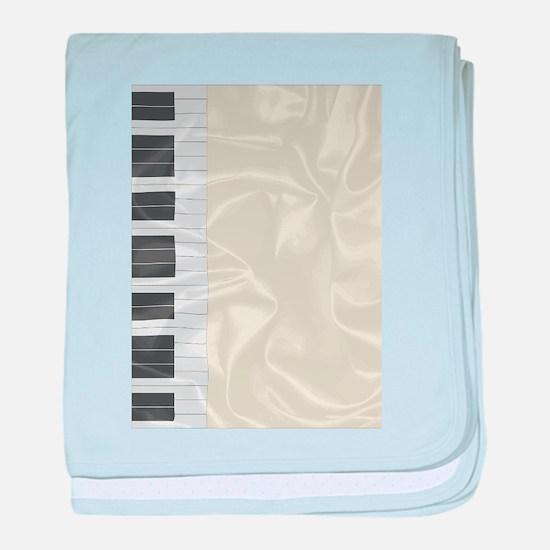 Silk Piano Keys baby blanket