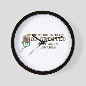 God Created Aussies Wall Clock