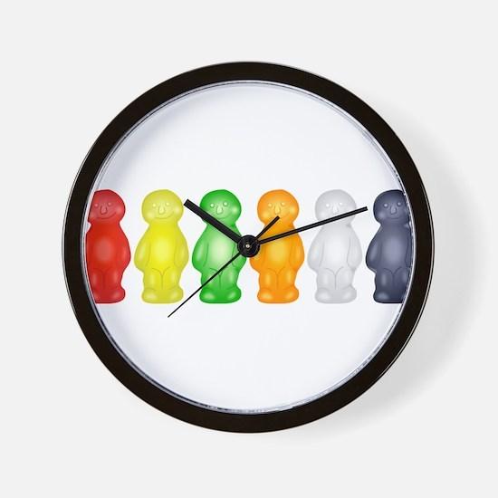 Jelly Babies Wall Clock