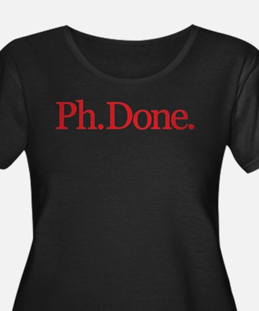 Ph.Done. Red Plus Size T-Shirt