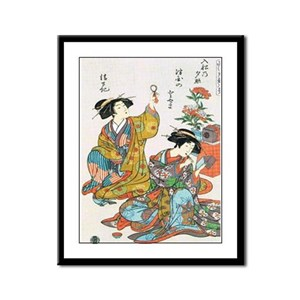 Classical Ancient Japanese Se Framed Panel Print