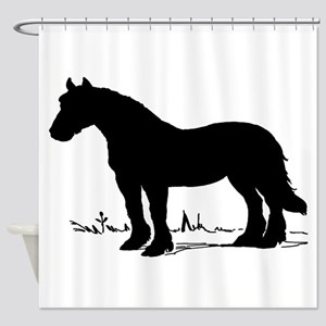 Horse Silhouette Shower Curtain