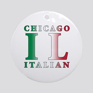 Chicago Italian Ornament (Round)
