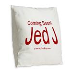 Coming Soon! Jed J Burlap Throw Pillow