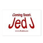 Coming Soon! Jed J Postcards (Package of 8)