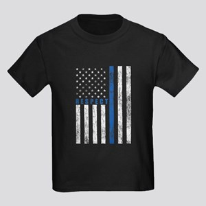 Respect Policemen Kids Dark T-Shirt