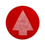 """Arrow Tree Red 3.5"""" Button (100 pack)"""