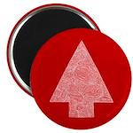 Arrow Tree Red Magnet