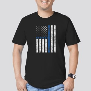 Respect Policemen Men's Fitted T-Shirt (dark)