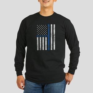 Respect Policemen Long Sleeve Dark T-Shirt