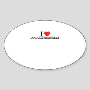 I Love LOGARITHMICALLY Sticker