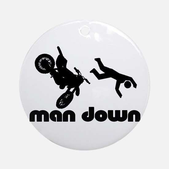 motocross down Ornament (Round)
