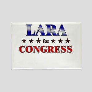 LARA for congress Rectangle Magnet