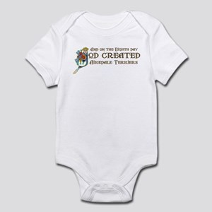 God Created Airedales Infant Bodysuit