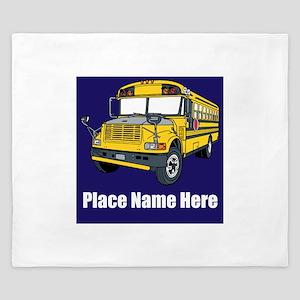 School Bus King Duvet
