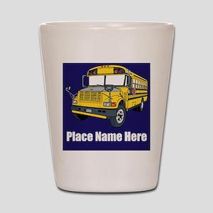 School Bus Shot Glass