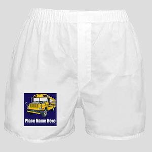 School Bus Boxer Shorts