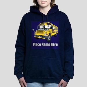 School Bus Women's Hooded Sweatshirt