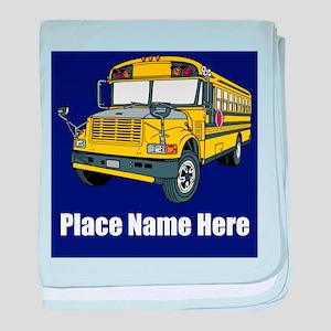 School Bus baby blanket