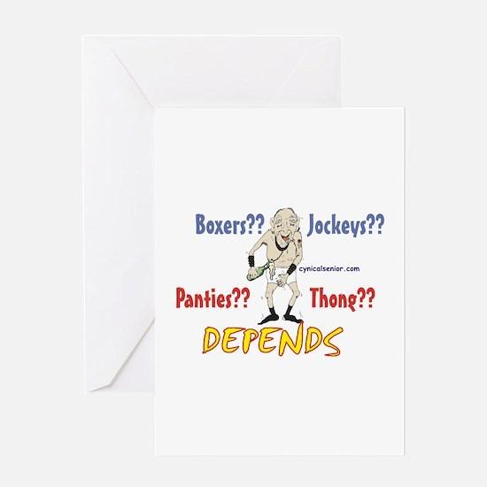 underware conundrum Greeting Card