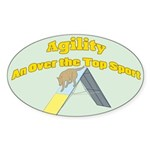 Over the Top Agility Oval Sticker