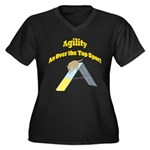 Over the Top Agility Women's Plus Size V-Neck Dark