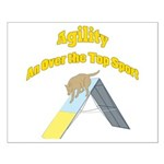 Over the Top Agility Small Poster
