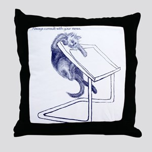 Consult Your Muse Throw Pillow