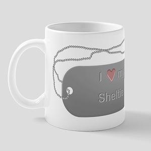 Dogtag- Love my Sheltie Mug