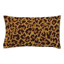 Brown Gold Leopard Print Pillow Case