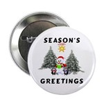 "Christmas Greetings 2.25"" Button (100 pack)"