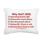 Smarter OS needs Rectangular Canvas Pillow