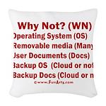 Smarter OS needs Woven Throw Pillow