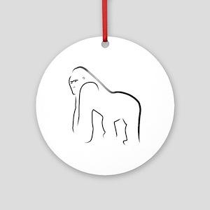 Silverback Gorilla Ornament (Round)