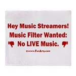 No Live Music Filter Throw Blanket