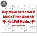 No Live Music Filter Puzzle