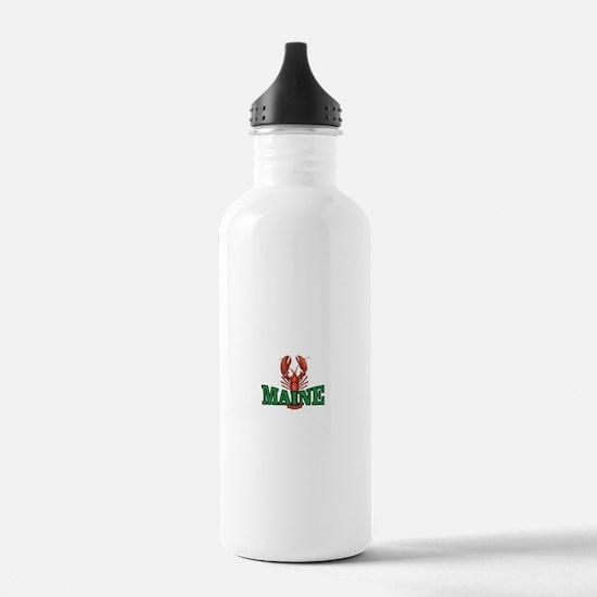 green maine lobster Water Bottle