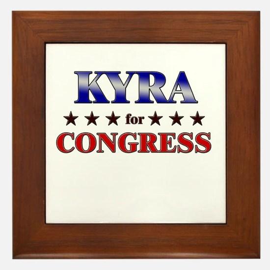 KYRA for congress Framed Tile