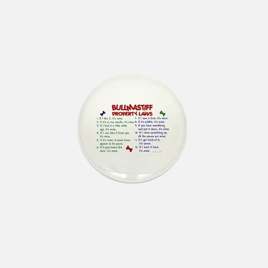 Bullmastiff Property Laws 2 Mini Button