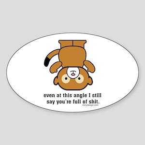Funny Sarcastic Monkey Oval Sticker