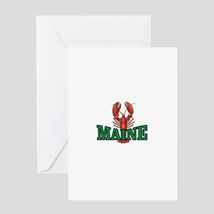 green maine lobster Greeting Cards