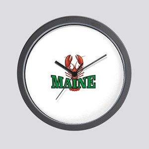 green maine lobster Wall Clock