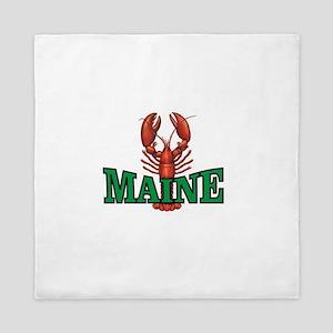 green maine lobster Queen Duvet