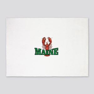 green maine lobster 5'x7'Area Rug