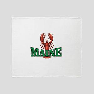 green maine lobster Throw Blanket