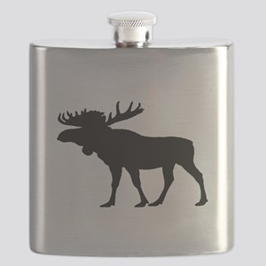 Moose Silhouette Flask
