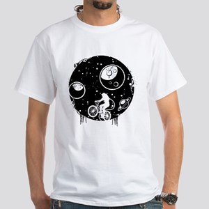 Space Cyclist White T-Shirt