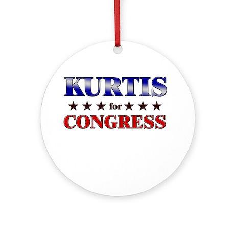 KURTIS for congress Ornament (Round)