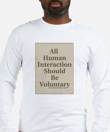 Human Interaction-Sepia Long Sleeve T-Shirt